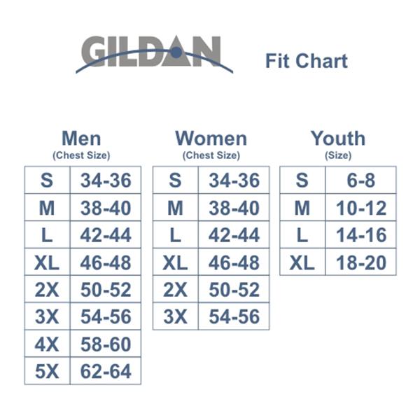 Image result for gildan shirt size chart 2-4