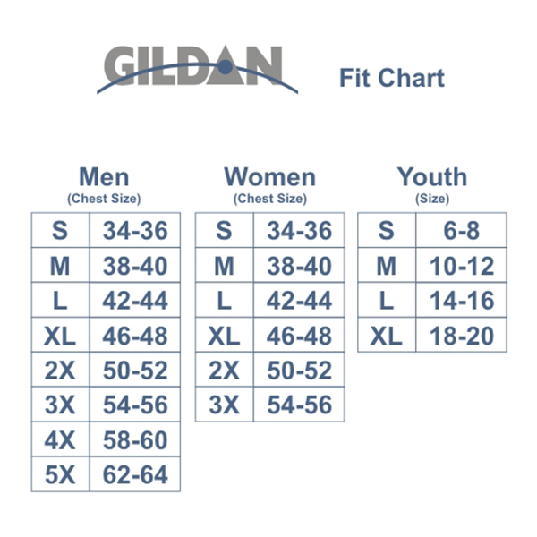 Image result for gildan g500 size chart