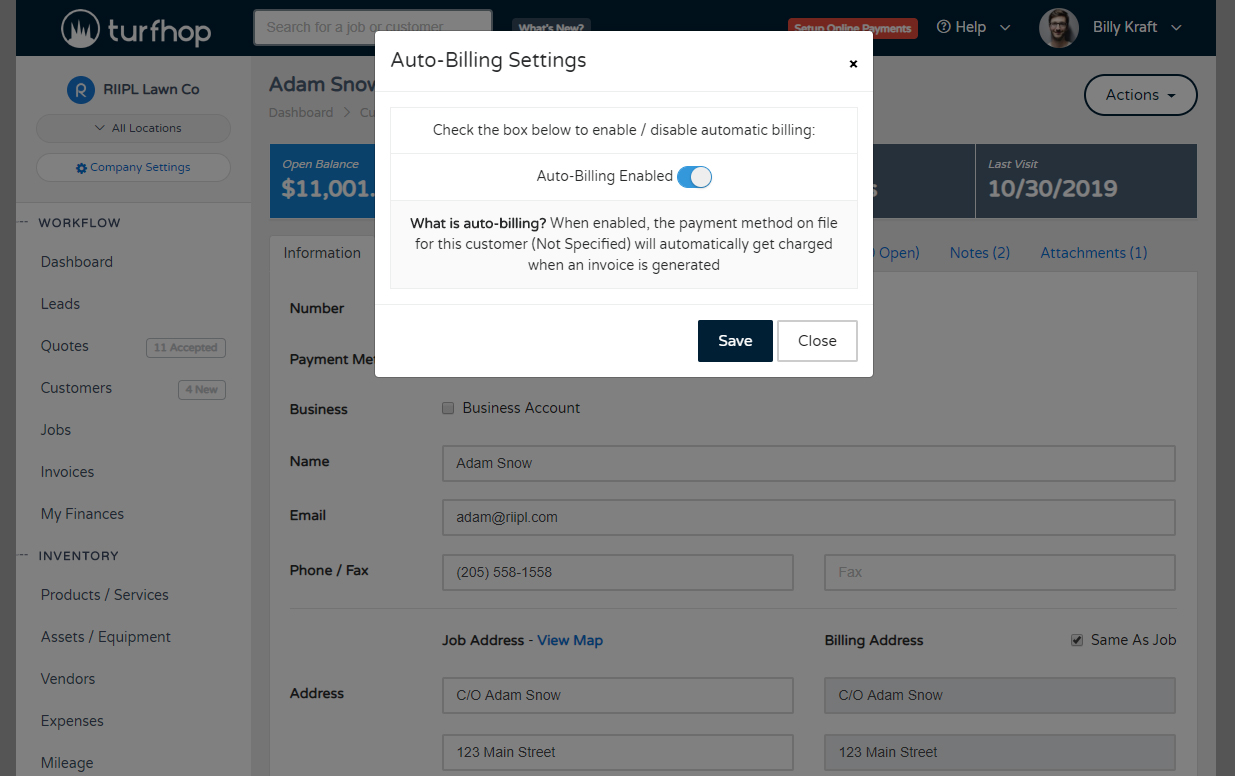 Auto Billing