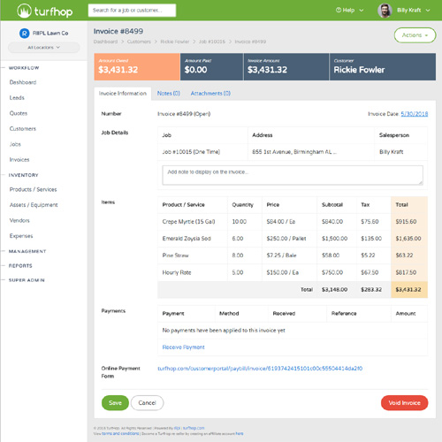 Automatic Invoicing