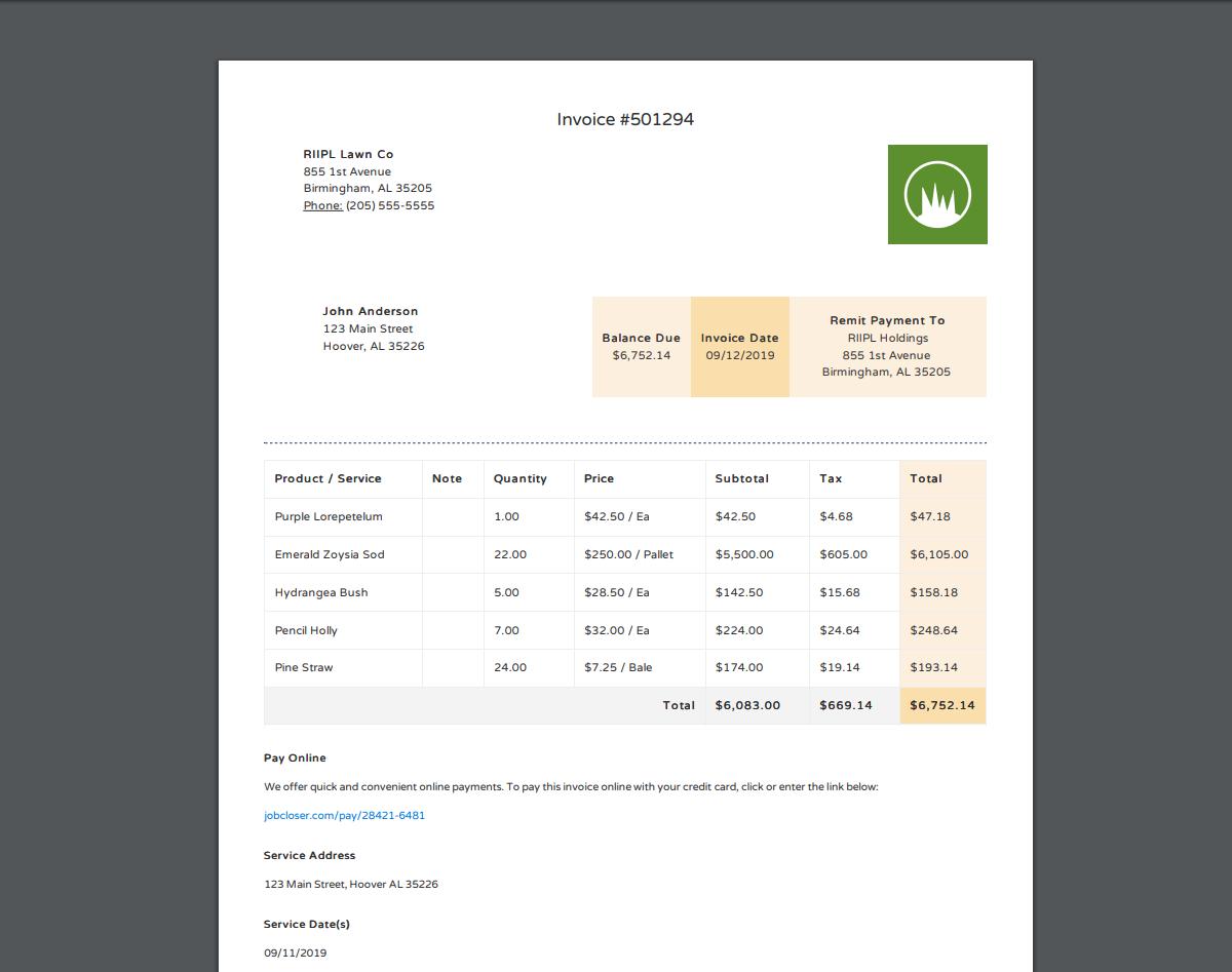 JobCloser PDF