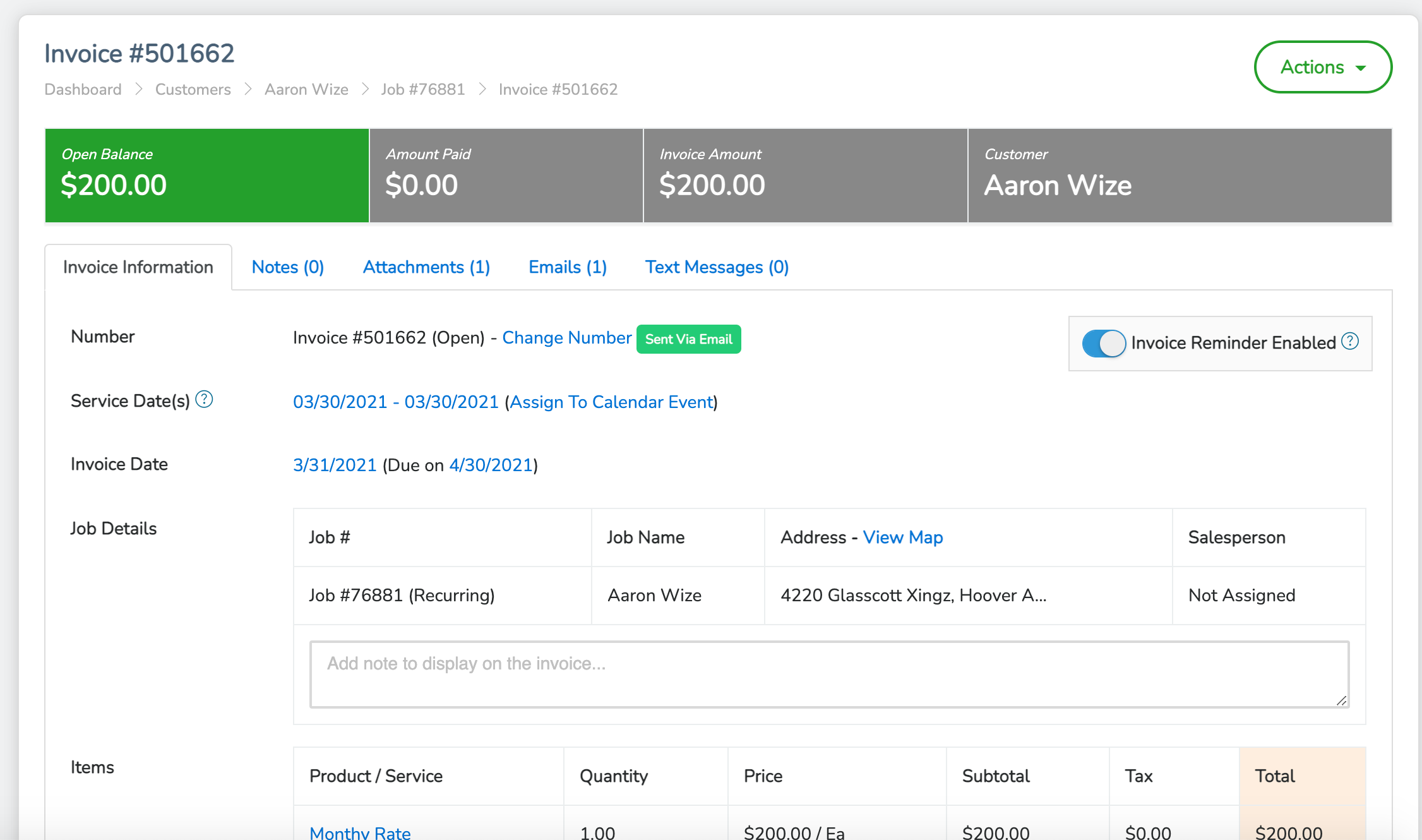 Landscaping Invoice Software