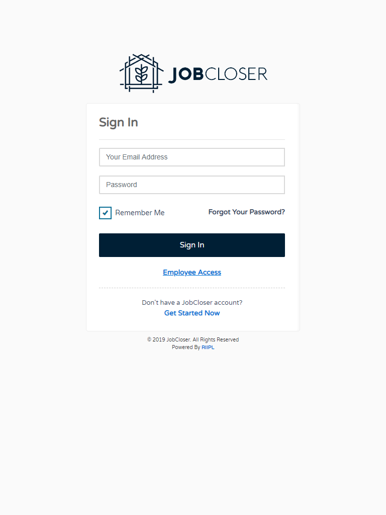 JobCloser Login