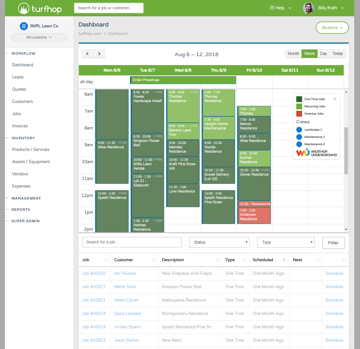 Scheduling Jobs - Scheduling Jobs - Lawn And Landscape Management Software