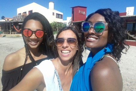 Rene Gardener, Ana Claudia Caram y Sophia Wonder