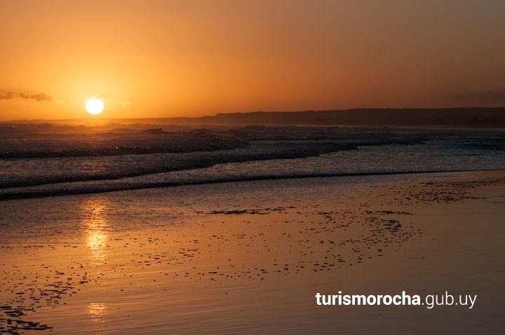 Atardecer en Playa Sur en Cabo Polonio