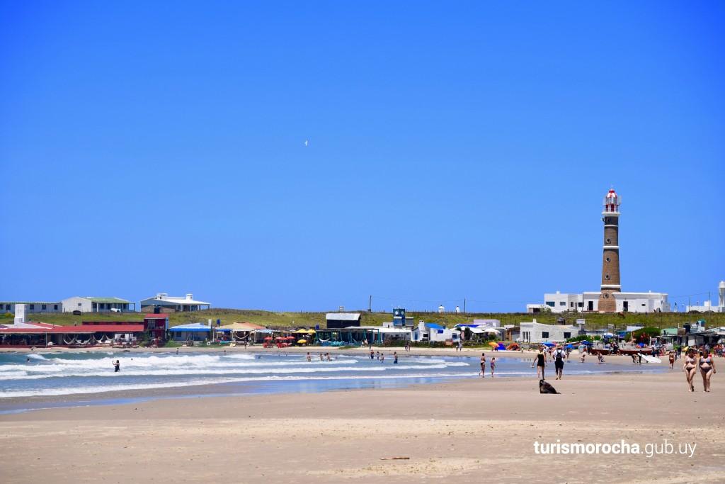 Playa La Calavera en Cabo Polonio