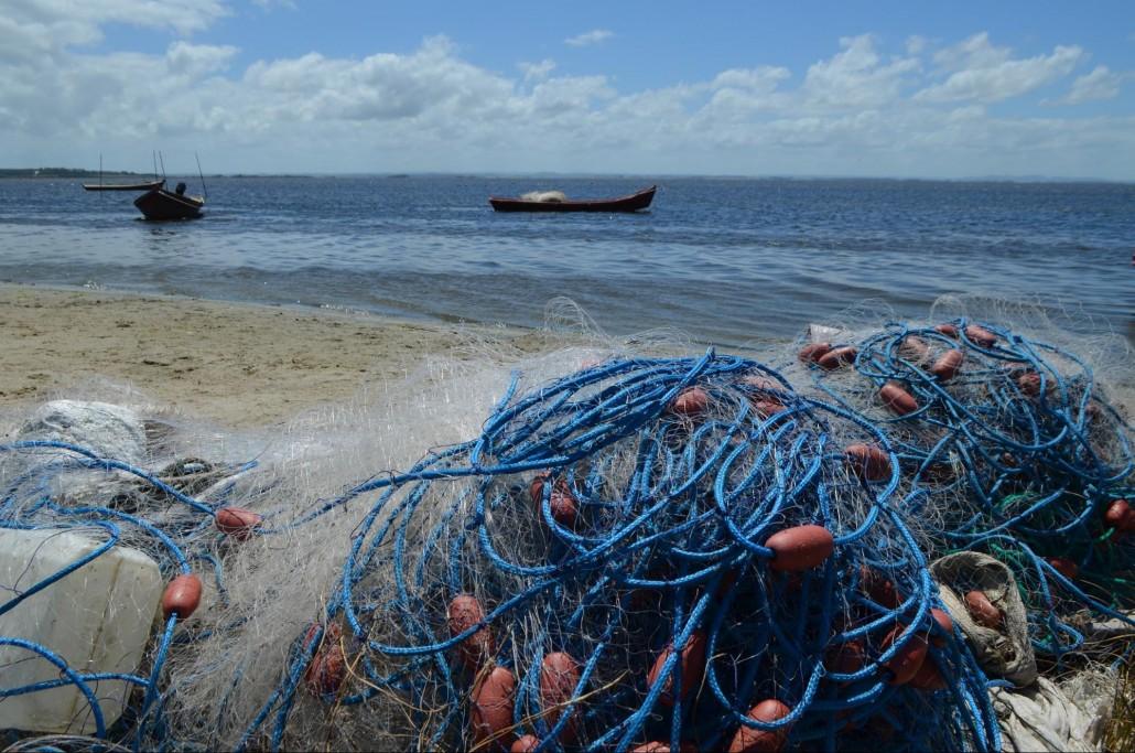 Redes a orillas de la Laguna de Rocha