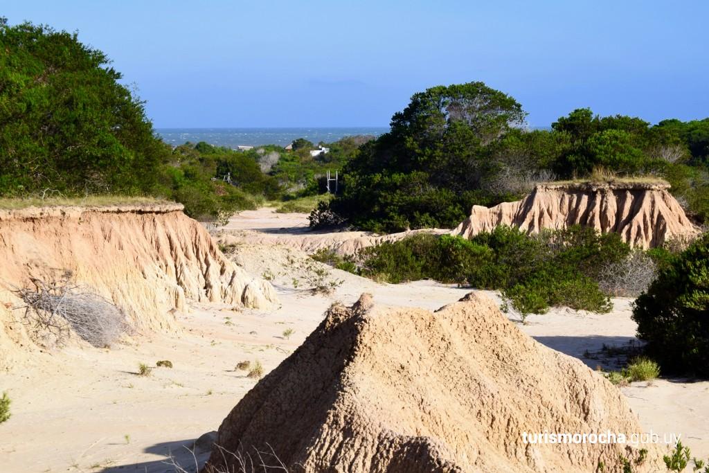 Cárcavas milenarias en Punta Rubia