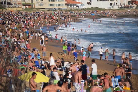 La Balconada Beach in La Paloma, one of the most famous and popular in Uruguay