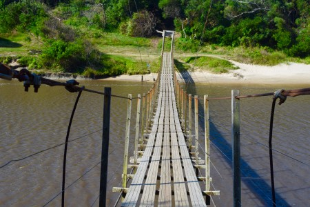 Suspension bridge, La Coronilla
