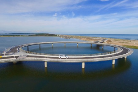 Laguna Garzón Bridge, union between Rocha and Maldonado, Uruguay