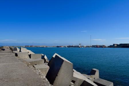 Vista hacia la bahía del Puerto de La Paloma