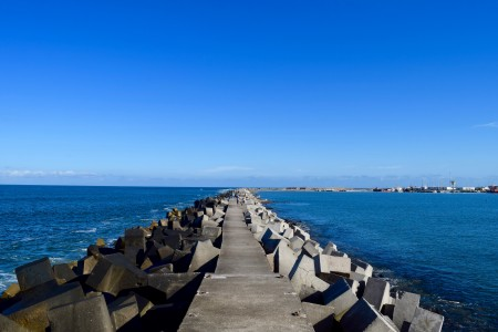 Breakwater of La Paloma Port