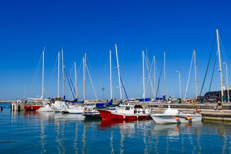 Marina and artisanal fishing port in La Paloma, Rocha, Uruguay