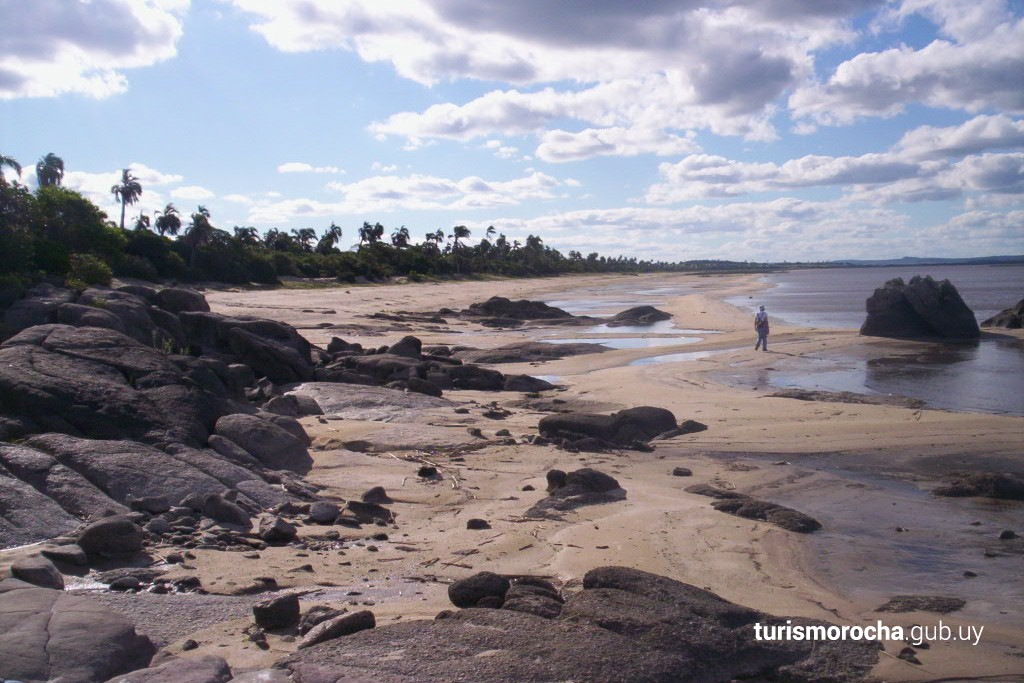 Costa arenosa y rocosa de la Laguna Negra