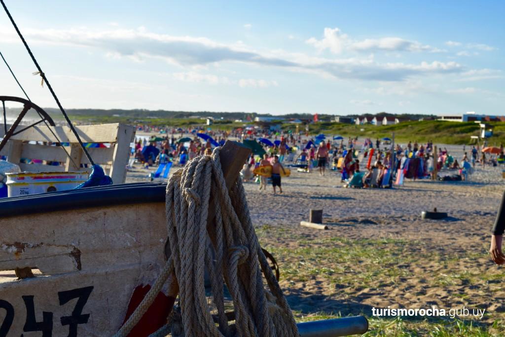 Playa Los Botes en La Paloma