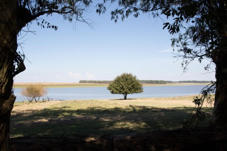India Muerta Lake and Dam, area for traditional activities and festivities in Uruguay