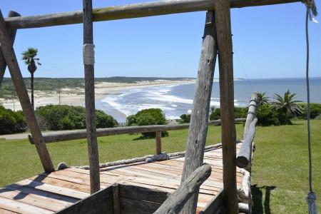 Vista hacia la playa La Moza