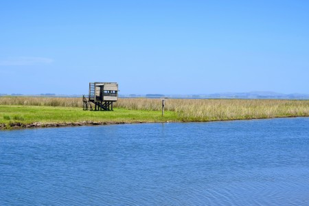 Mirador de aves en la Laguna de Castillos en Castillos