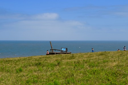 Panoramic viewpoint of marine fauna in the Cerro Verde, Protected Area of Uruguay