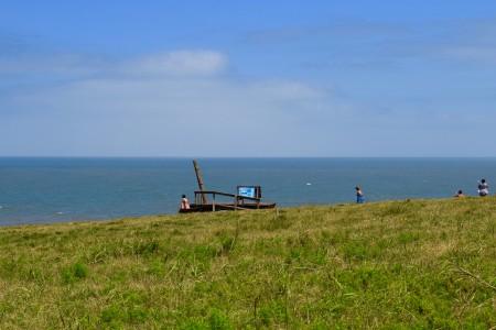 Mirante panorâmico de fauna marinha no Cerro Verde, Área Protegida do Uruguai