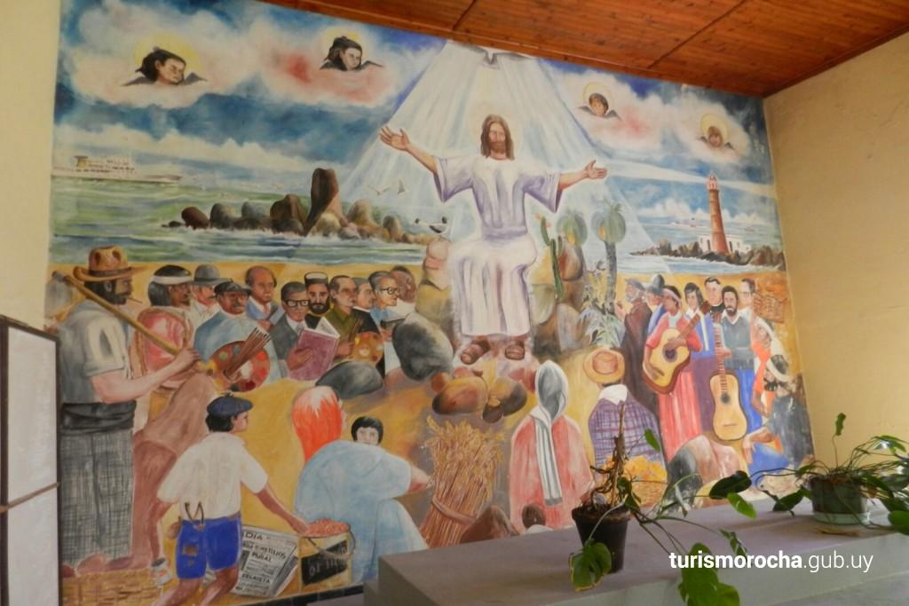 Pintura en el templo de Castillos, Rocha