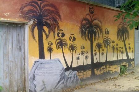 Mural ubicado en calle Pintos entre Ferrer y 19 de Abril. Artista: Profesor Humberto Ochoa