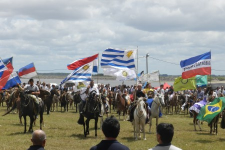 Festival del Lago in the lake of the India Muerta Dam, Velázquez, Uruguay