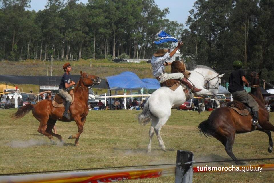 Jineteadas de caballos en el Festival de la Danza y el Corcovo
