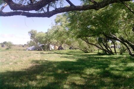 Zona de camping en la Laguna Merín