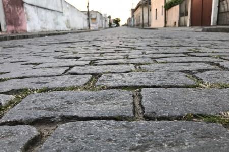 Caminando por una alfombra de granito