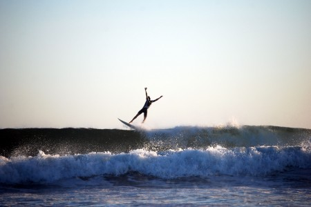 Beaches ideal for surfing in Cabo Polonio, east of Uruguay