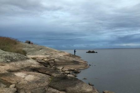 Costa rocosa de la Laguna Negra