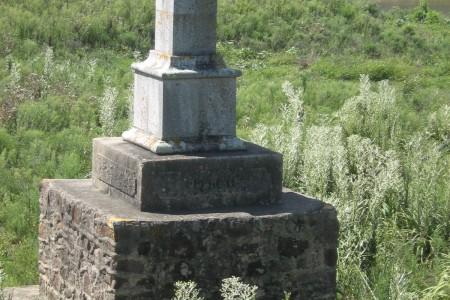 Marco real sobre arroyo San Miguel a pocos km de Chuy