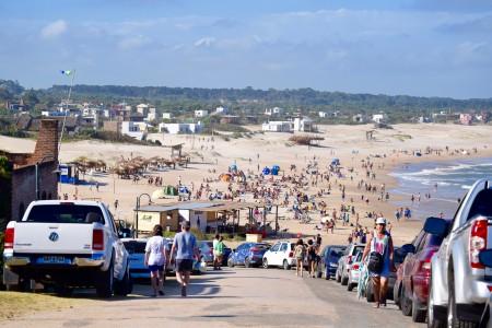 Playa El Desplayado durante verano