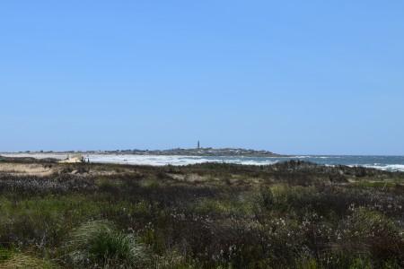 Vista del Cabo Polonio desde el ingreso