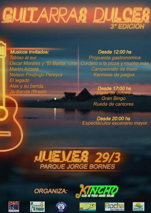"""Festival de música: """"Guitarras Dulces"""" en Semana de Turismo en Aguas Dulces"""