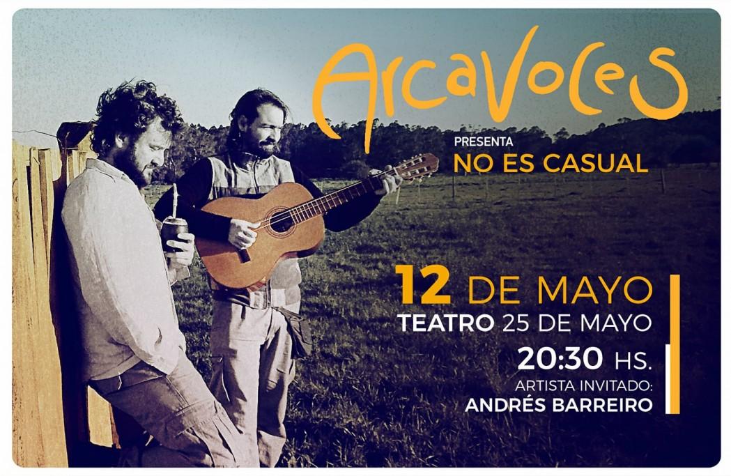 """Arcavoces presenta """"No es casual"""" en el Teatro 25 de Mayo de Rocha"""