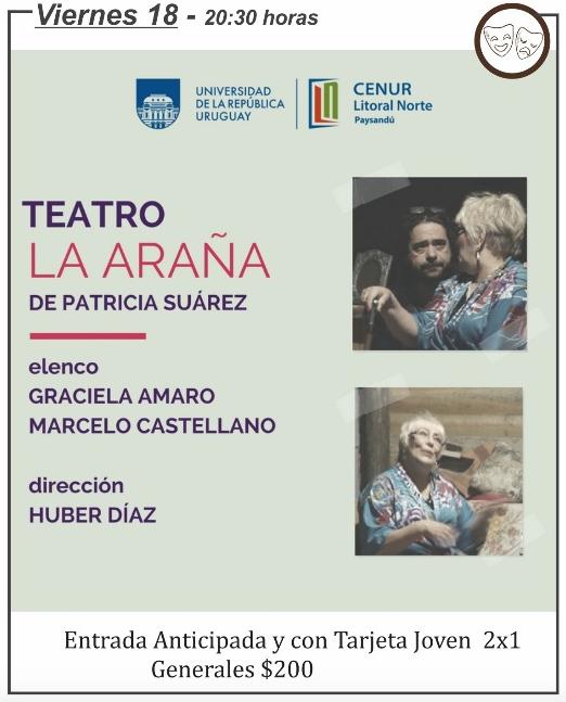 """""""La Araña"""", una obra de Patricia Suárez en el Teatro 25 de Mayo de Rocha"""