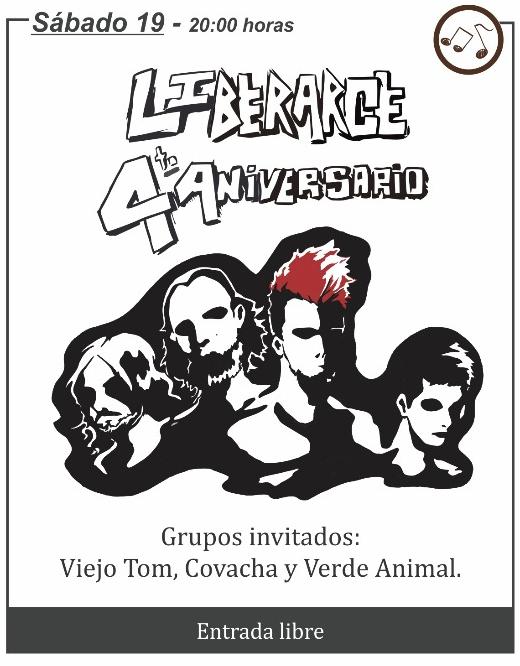 """""""LiberArce"""" celebra su cuarto aniversario con un gran show en el Teatro 25 de Mayo de Rocha"""