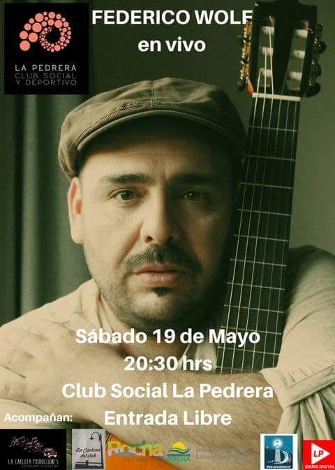 Show en vivo de Federico Wolf en el Club Social y Deportivo de La Pedrera. ¡Entrada libre!