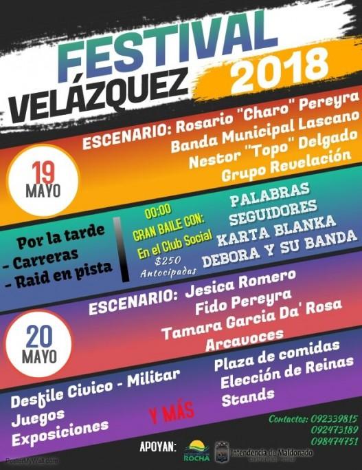 Festival en Velázquez con música en vivo, baile, raid, plaza de comida, juegos, desfile y mucho más