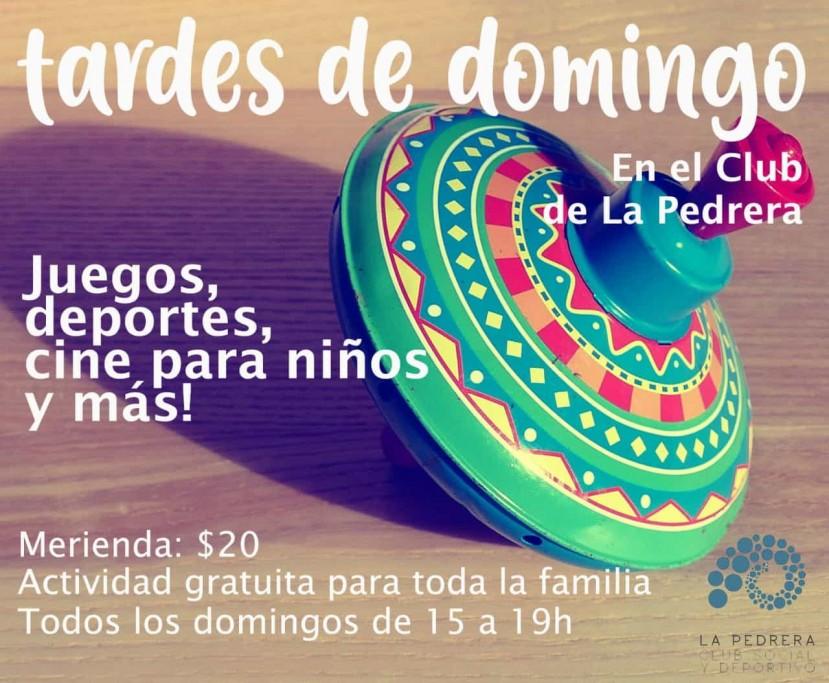 Tardes de domingo con actividades recreativas en el Club Social y Deportivo de La Pedrera