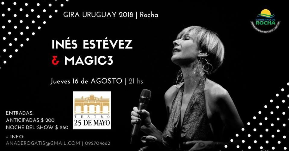 Inés Estevez & Magic3 presentan su show de jazz en el Teatro 25 de Mayo de Rocha
