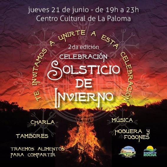 Celebración del Solsticio de invierno con fogones, música, tambores y charlas en La Paloma