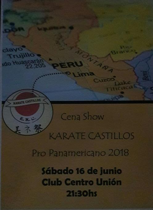 Cena show a beneficio de la Escuela de Karate de Castillos