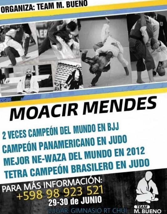 Seminario de Brazilian Jiu-Jitsu en Chuy con Moacir Mendes Junior, bicampeón mundial de este deporte