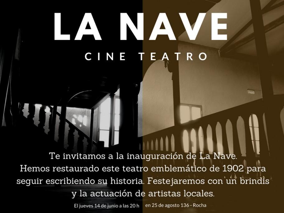 """Inauguración del Cine y Teatro """"La Nave"""" en Rocha luego de su restauración"""