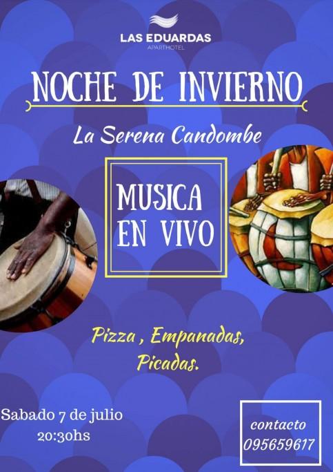 Noche de invierno con música en vivo y cena en Las Eduardas en La Paloma